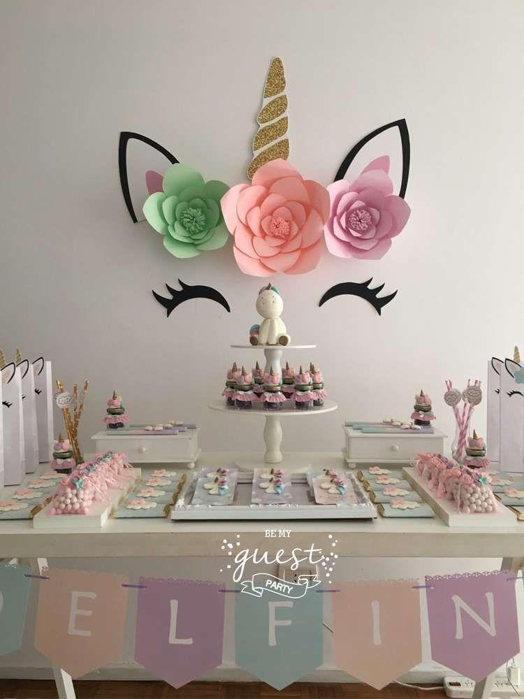 Unicorns Birthday Party Ideas Party Decor Idea Pinterest