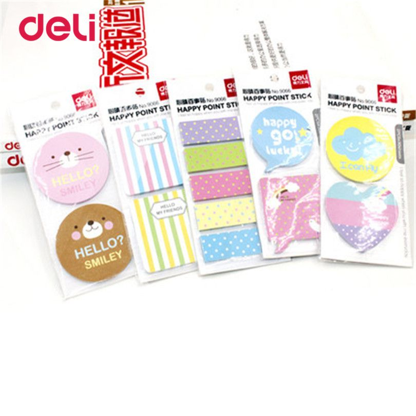 Deli Cute Kawaii candy Memo Pad Paper Stickers Cartoon Cat Poste
