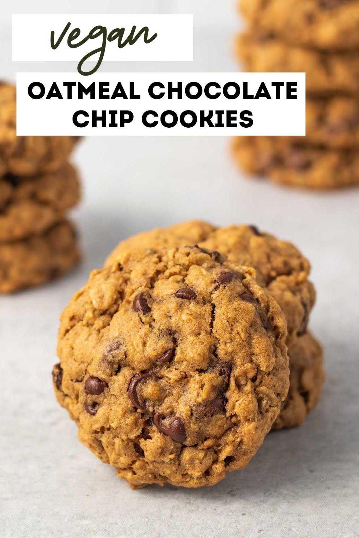 Best Vegan Oatmeal Chocolate Chip Cookies Karissa S Vegan Kitchen Recipe In 2020 Vegan Oatmeal Chocolate Chip Cookies Oatmeal Chocolate Chip Cookies Honey Cookies Recipe