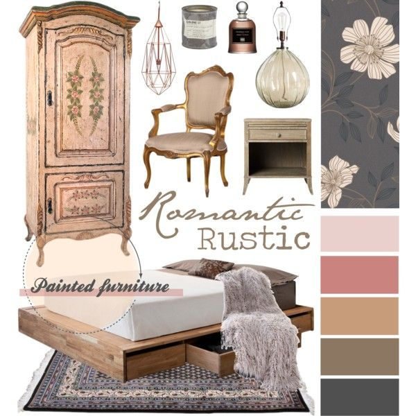 Romantic Rustic by ladomna on Polyvore featuring interior, interiors, interior design, home, home decor, interior decorating, MASH Studios, Pottery Barn, Graham & Brown and Le Labo