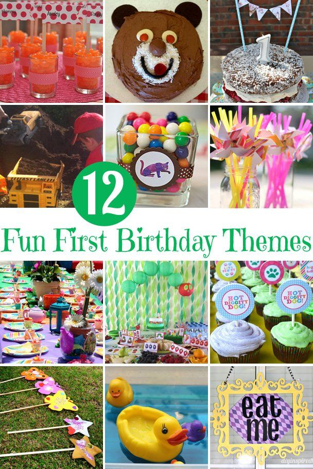 12 Fun First Birthday Party Themes