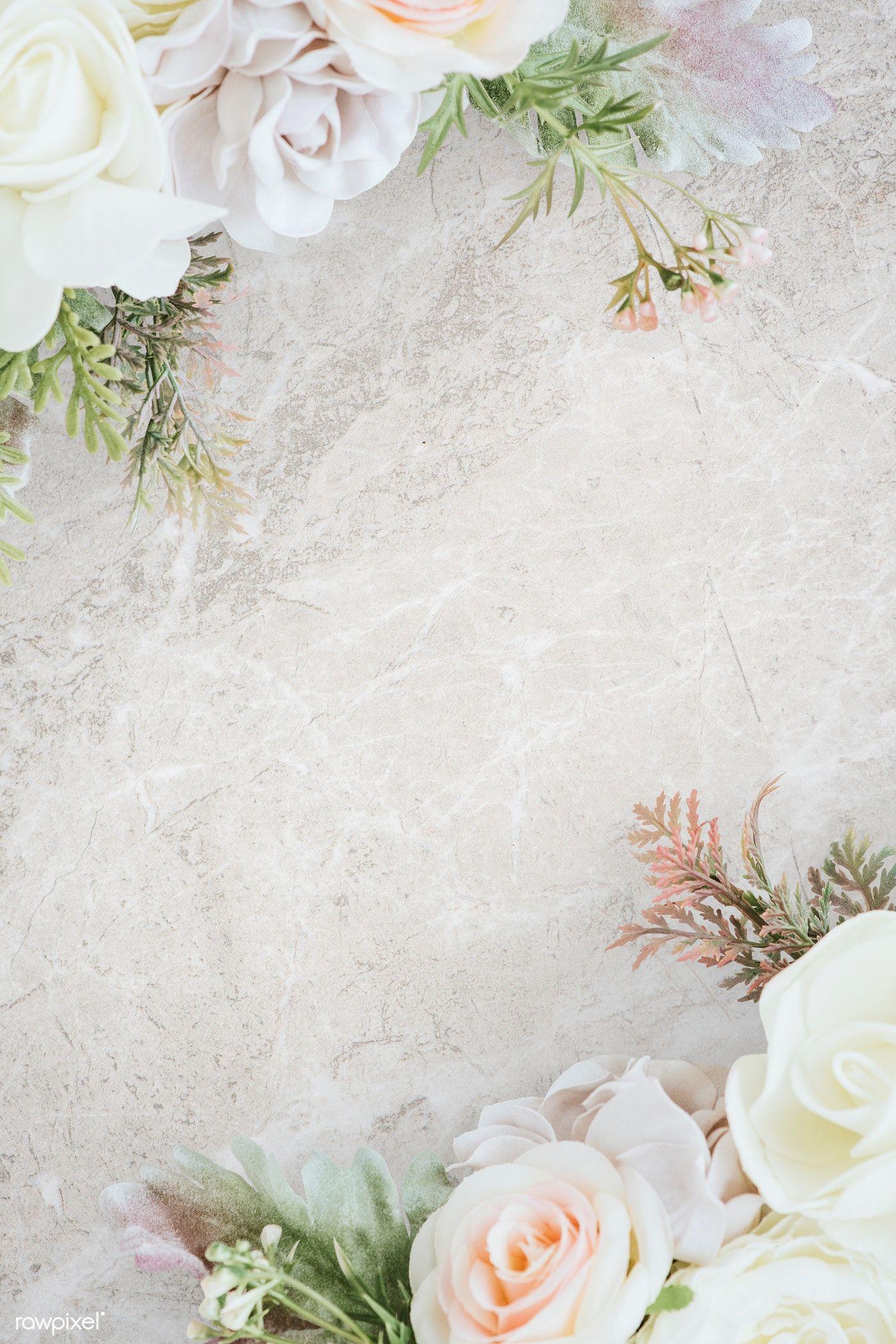 Download Premium Psd Of Pastel Flower Pattern Background Mockup 1204216 Flower Background Iphone Pastel Flowers Flower Background Wallpaper