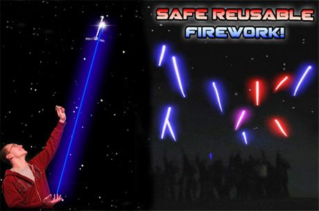 Safe Reusable Firework - LED Galaxy Shooters From $10