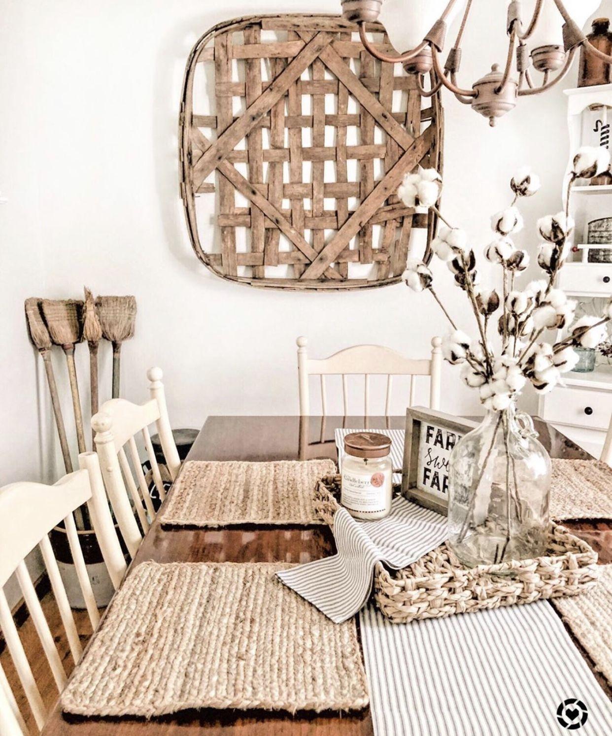 30 Best Farmhouse Table Dining Room Decor Ideas: Farmhouse Dining Room Table Scape Decor! (With Images