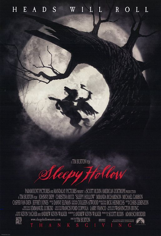 Sleepy Hollow 1999 Sleepy Hollow Movie Sleepy Hollow Poster Horror Movie Posters