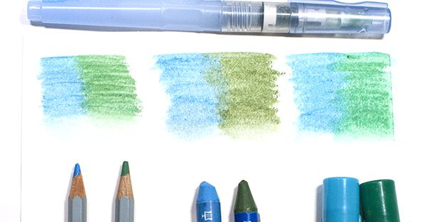 Watercolor Pencils Vs Crayons Vs Gel Sticks Watercolor Pencils