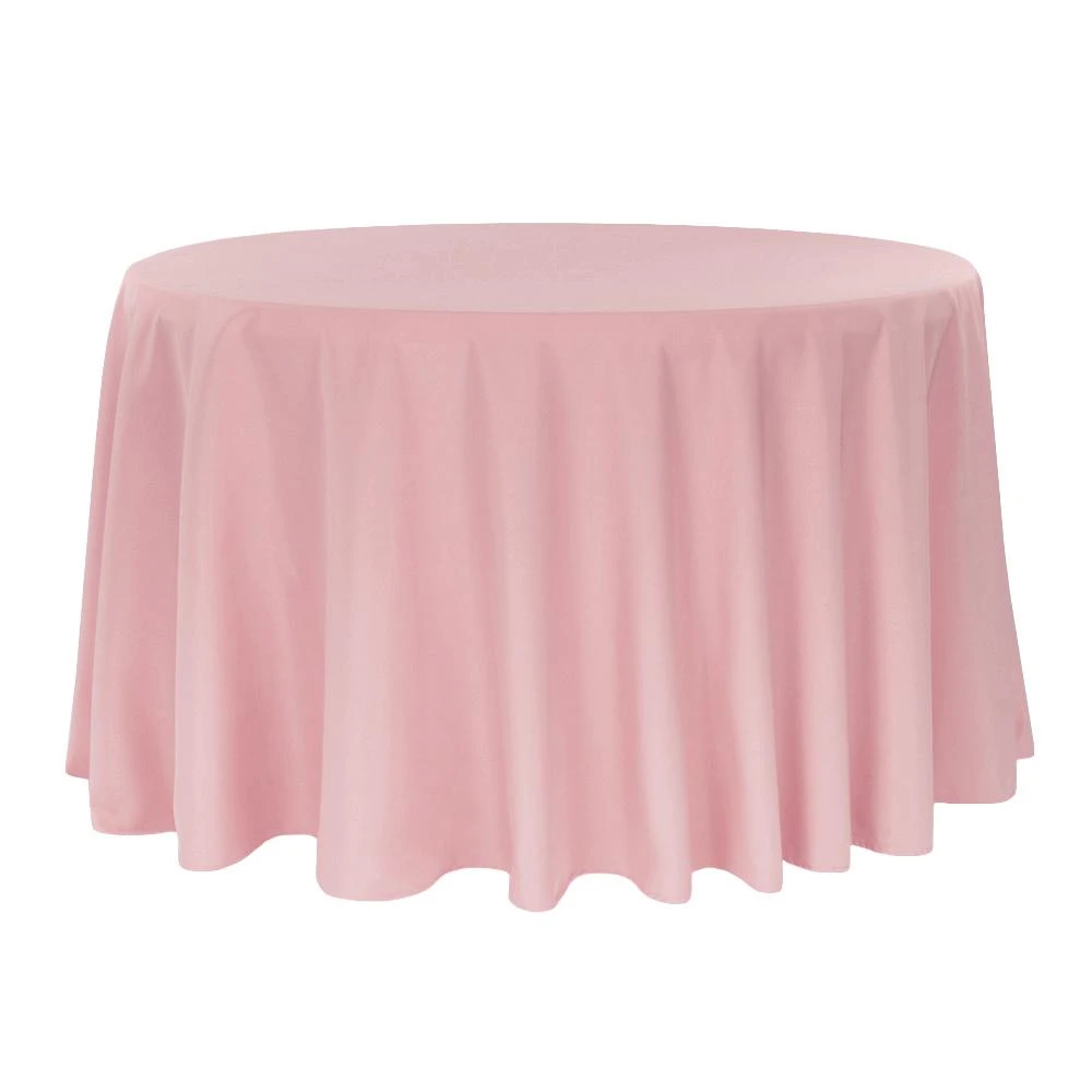 Round Polyester 132 Tablecloth Dusty Rose Mauve Cv Linens In