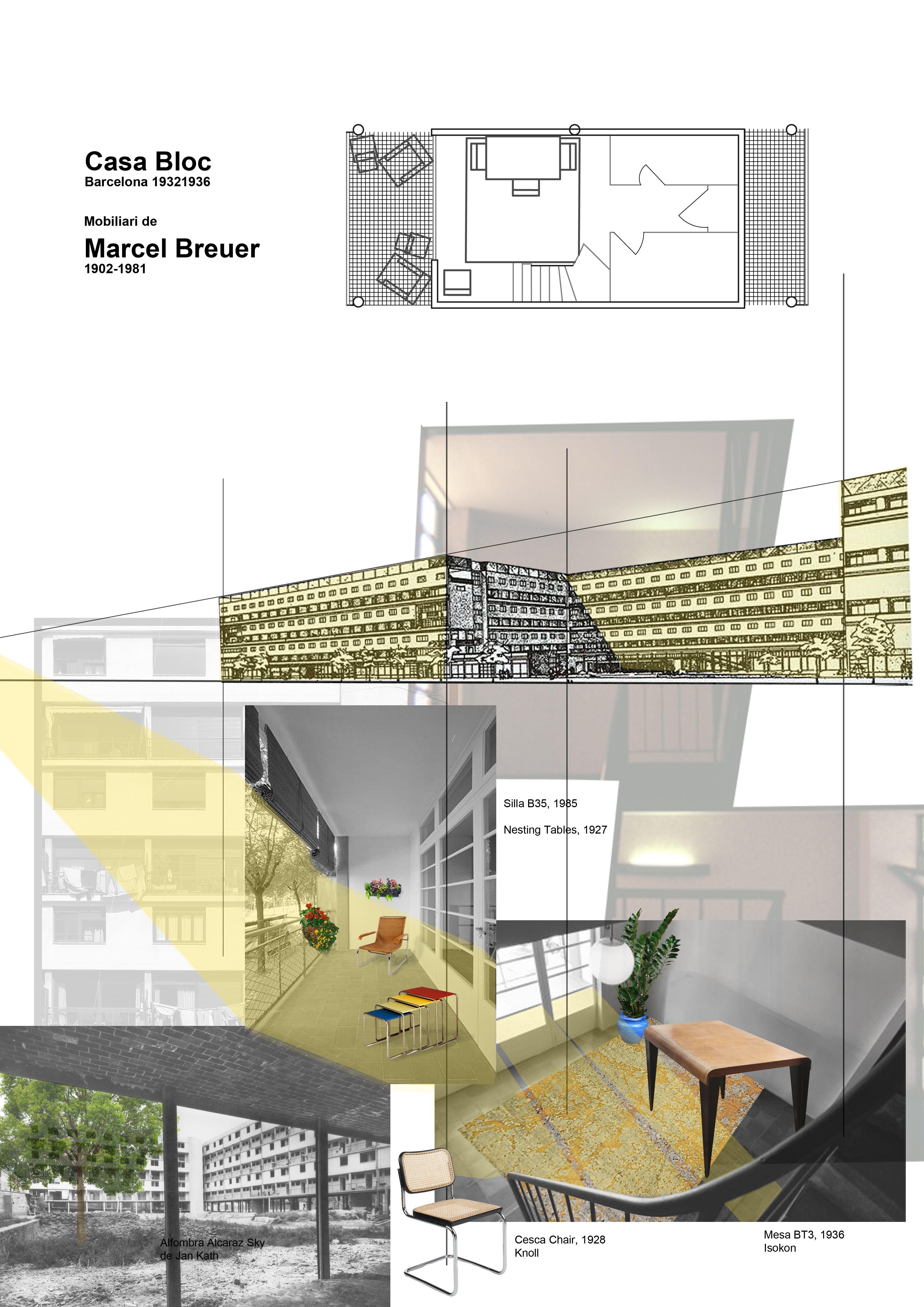 Concepto Casa Bloc Barcelona Con Muebles De Marcel Breuer Laura  # Muebles De Casa Barcelona