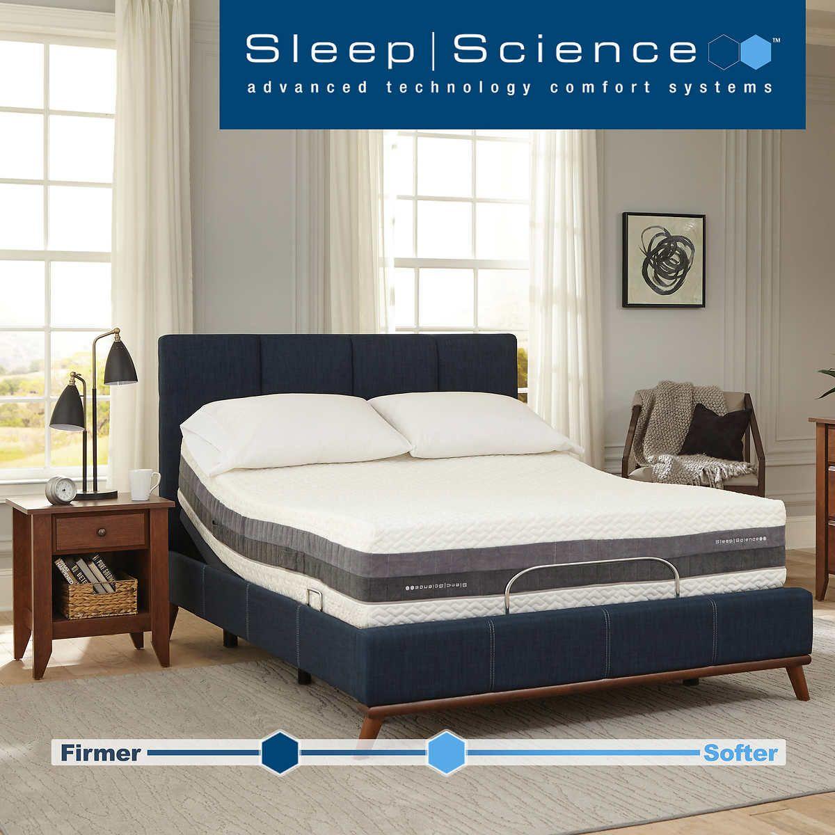 "Sleep Science iFlip 12"" Hybrid Coil Queen Mattress with"