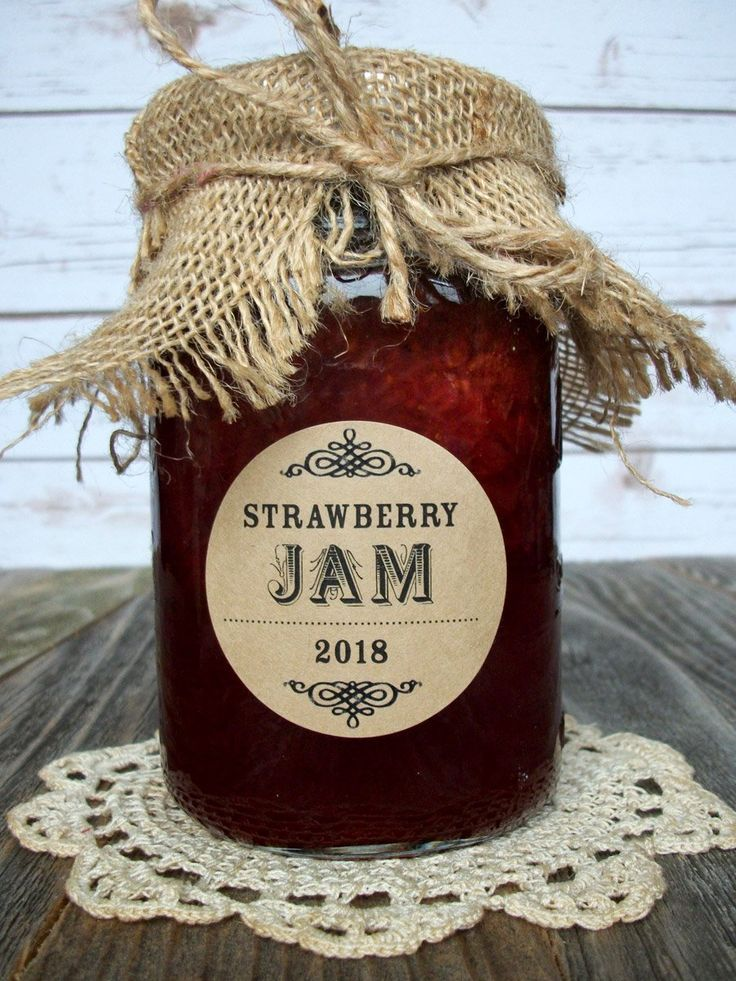 Custom kraft canning labels mason jar crafts bottle