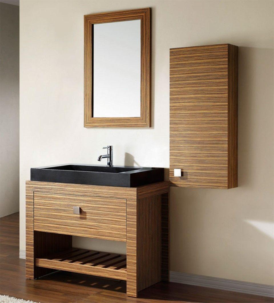 Interesting Large Black Vessel Sink On Funky Bathroom Vanity Feat Wall Cabinets With Wooden Mi Cheap Bathroom Vanities Small Bathroom Vanities Furniture Vanity