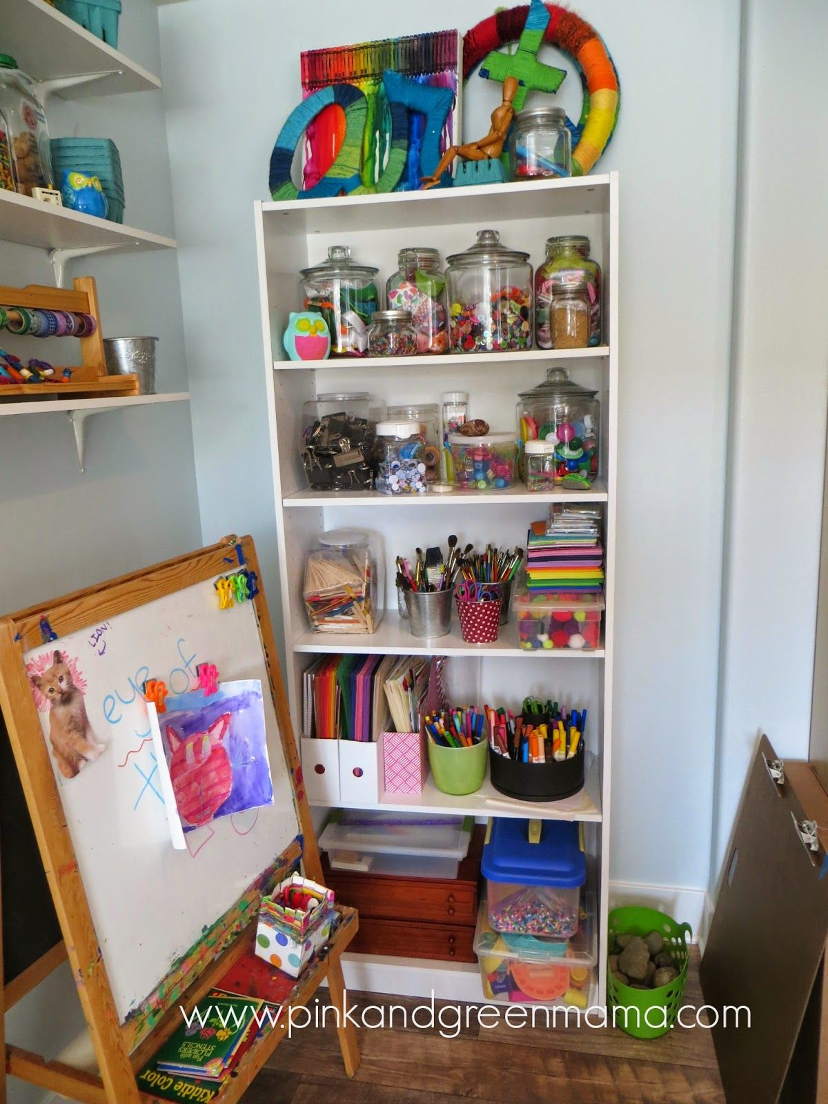 Self Serve Kids Art Area With Easy To Access Supplies On