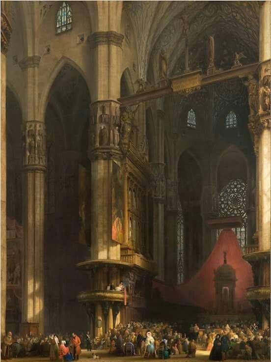 Duomo di Milano 1840 Luigi Bisi