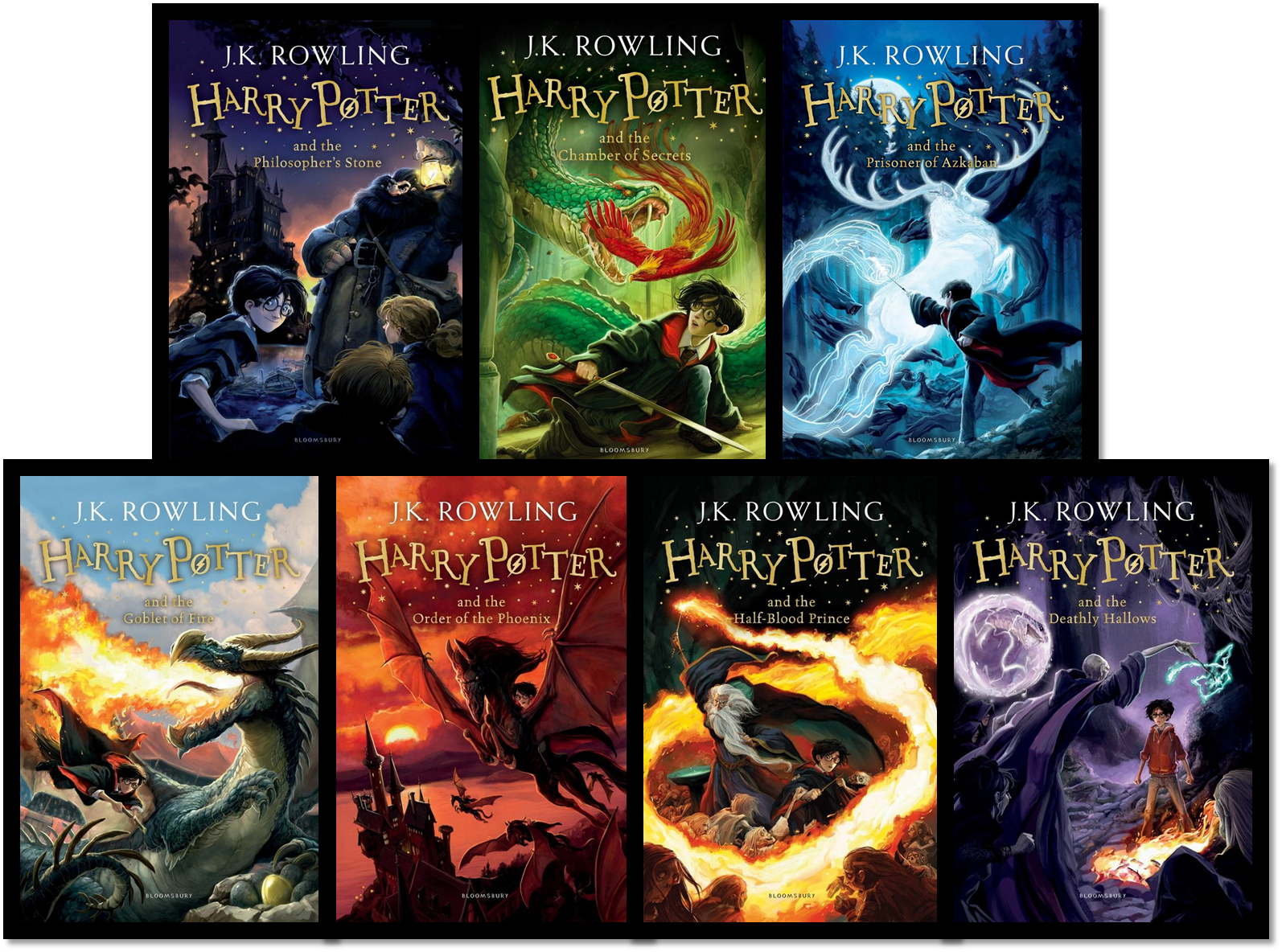 New Harry Potter Book Covers Glow In The Dark ~ Bloomsbury new harry potter covers and artist interview