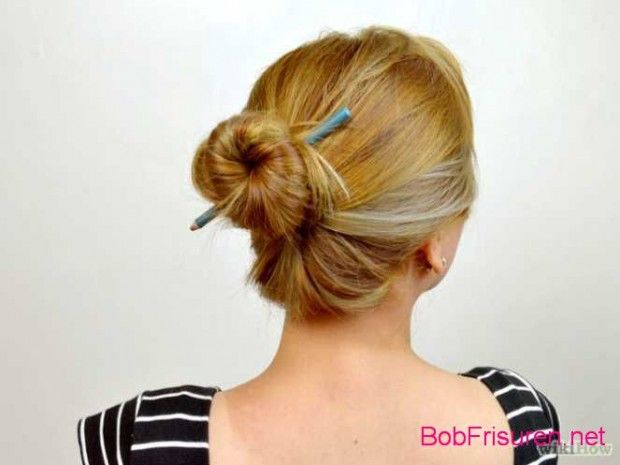 einfache hochsteckfrisuren fur kurze haare anleitung #