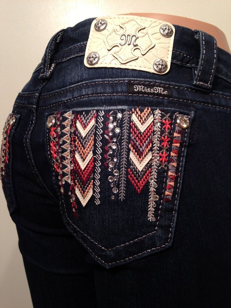MISS ME SWEET AS CANDY BOOT CUT JEANS JP8242B NWT