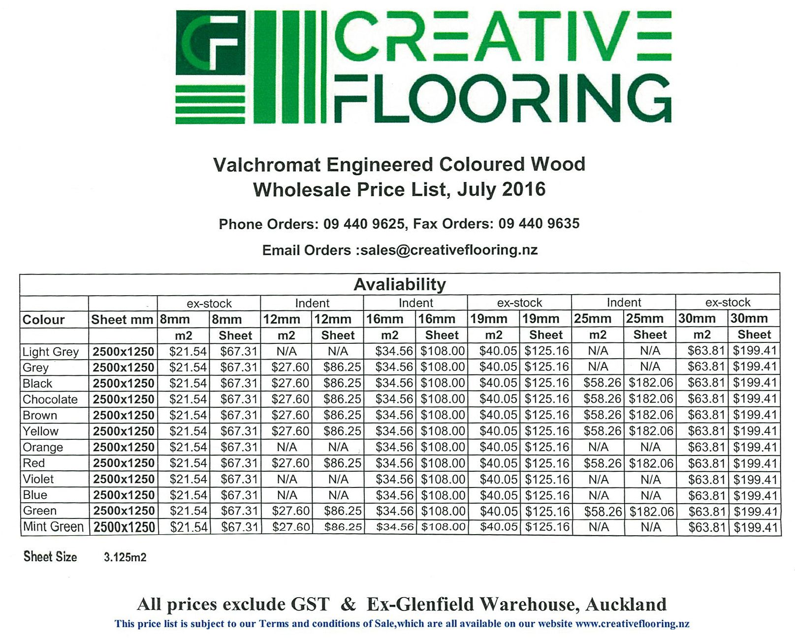 Valchromat Price List And Contact Valchromat Creative Flooring Phone Orders