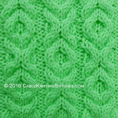 Cable Knitting Stitches » Hugs and Kisses stitch - pattern 2 ...