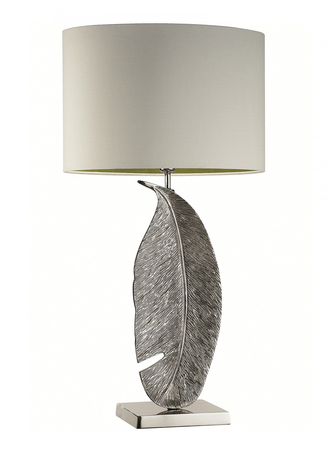 Leaf Nickel Large Table Lamp Heathfield Co Large Table Lamps Table Lamp Lighting Lamp