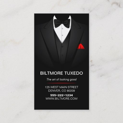 Tuxedo Suit Mens Clothing Modern Clean Business Card Zazzle Com In 2021 Cleaning Business Cards Tuxedo Suit Visiting Card Design