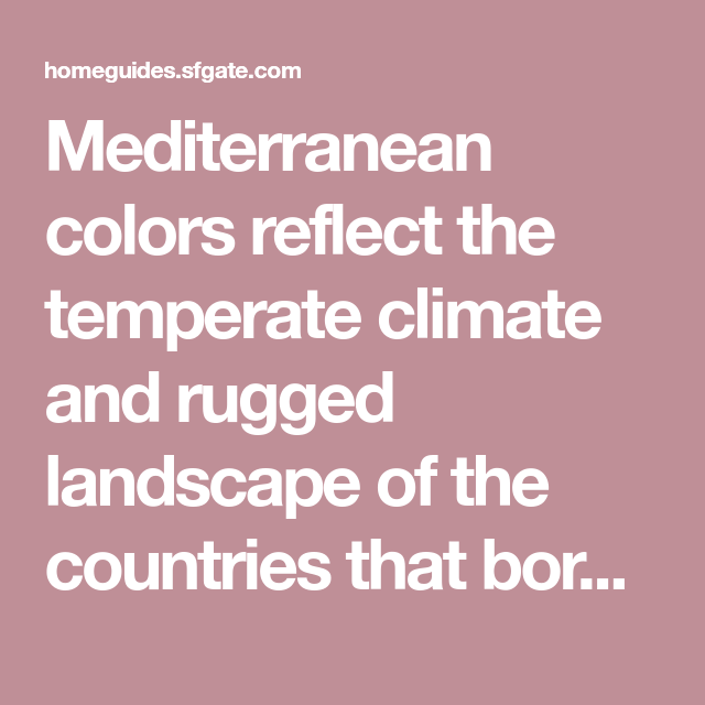 Exterior Paint Colors For Mediterranean Homes: Mediterranean Home Paint Colors