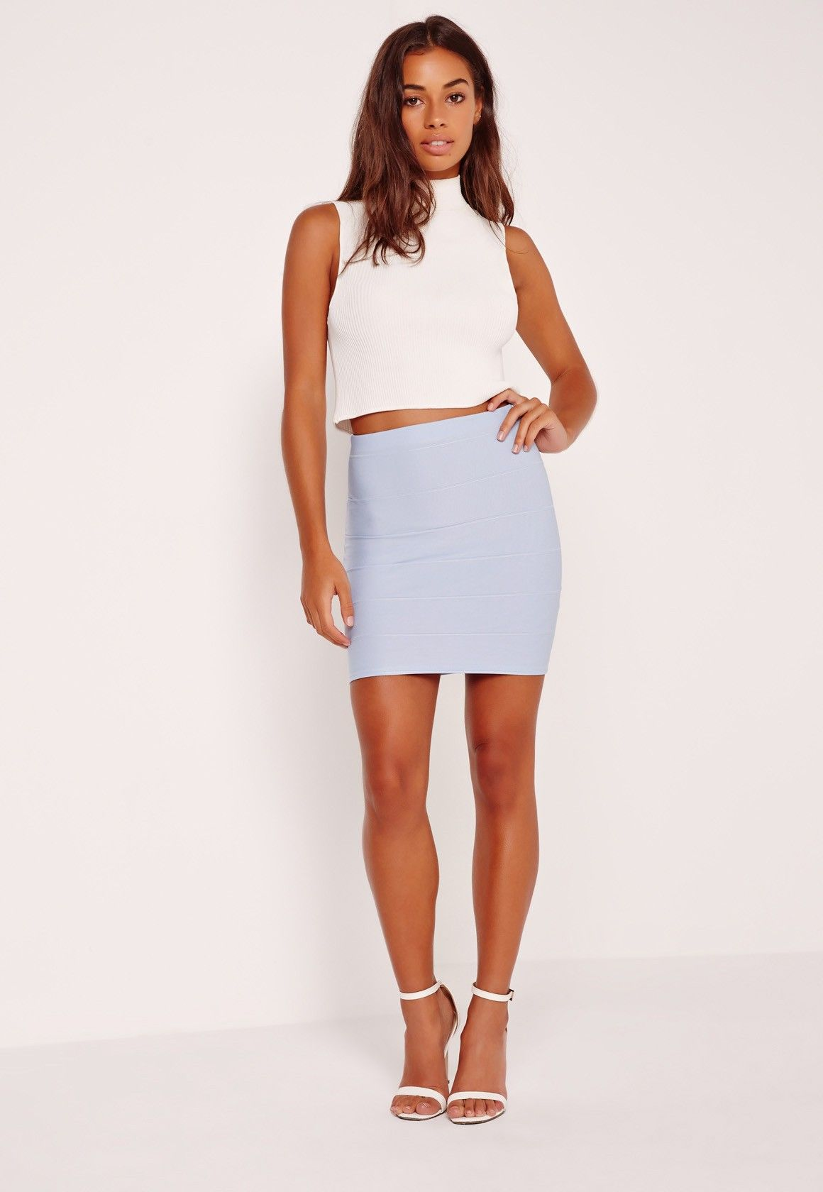 4a5123ccec28 Missguided - Bandage Mini Skirt Blue | Style Me Pretty