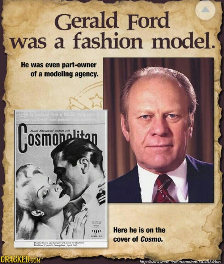 Gerald Ford A Fashion Model Famous People You Didn T