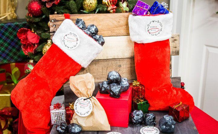 DIY Lump of Coal Soap Christmas DIY, Soap, Home, family