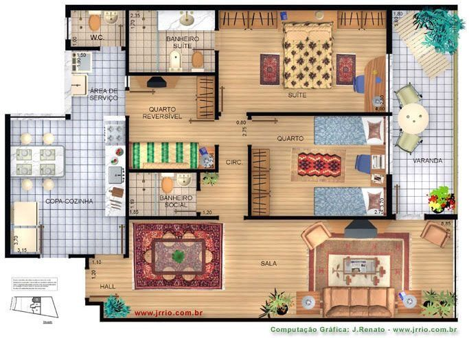 Pin By Chloe Hoyt On Colored Renderings Rendered Floor Plan Architectural House Plans Floor Plans