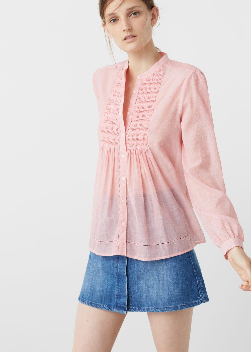 d478a801bcce Blouse texturée coton - Femme