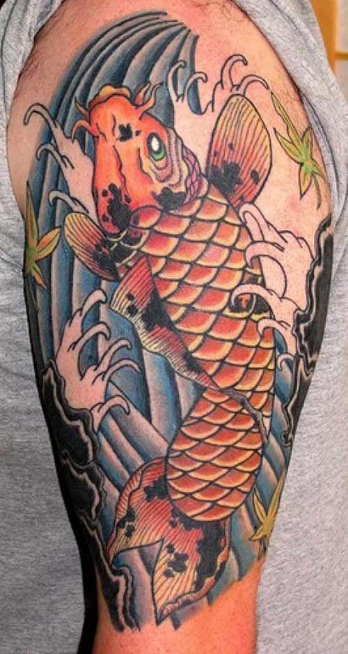 Koi Tattoos For Men Koi Fish Tattoo Is A Traditional Japanese Tattoo Whi Tattoos Tattoo Pictures Cultur Koi Fish Tattoo Japanese Tattoo Cool Arm Tattoos