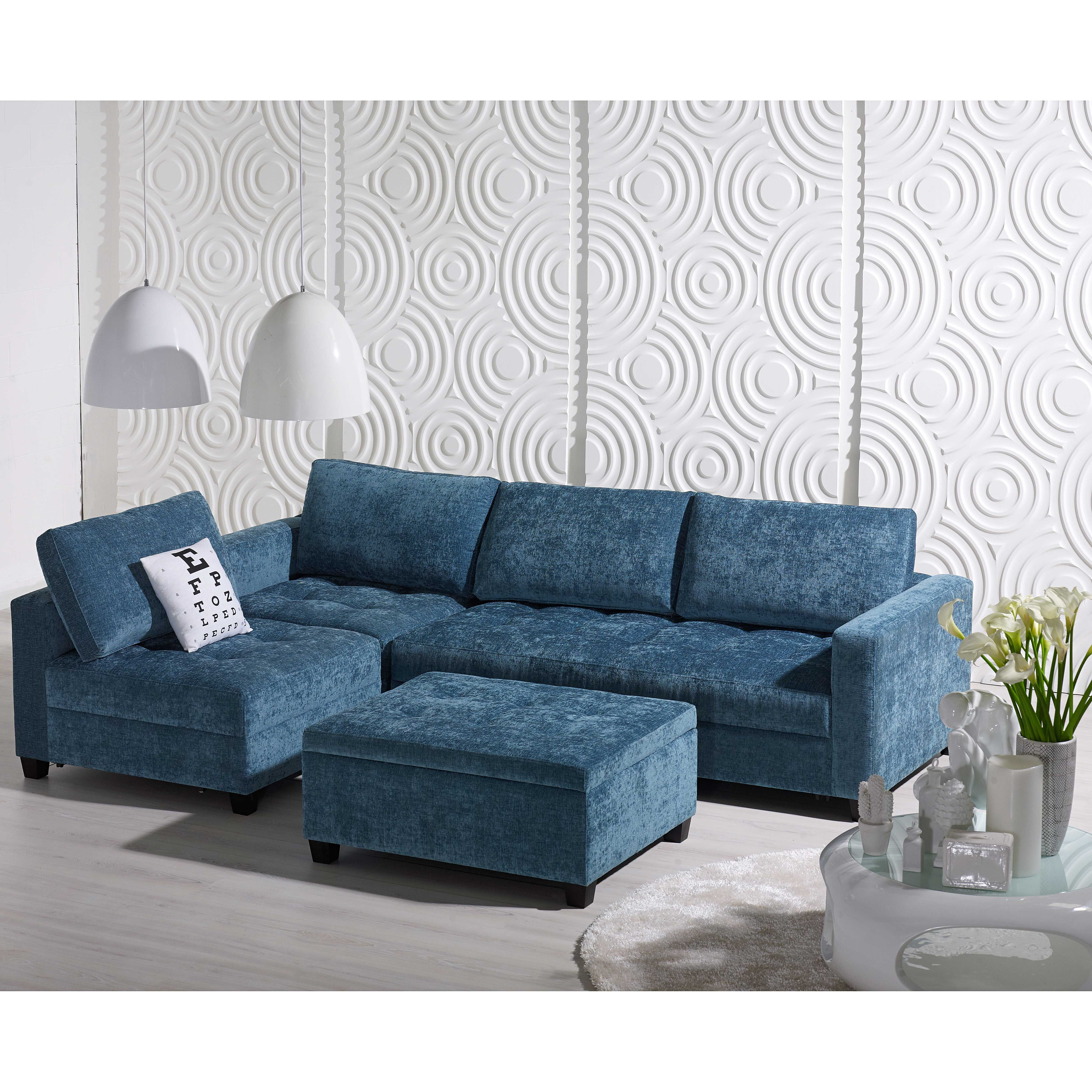 Sophia Fabric Modular Lounge With Ottoman From Domayne. If