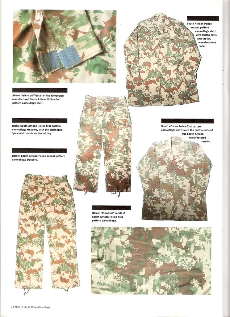 2d5f01c0894 South African Police camouflage patterns