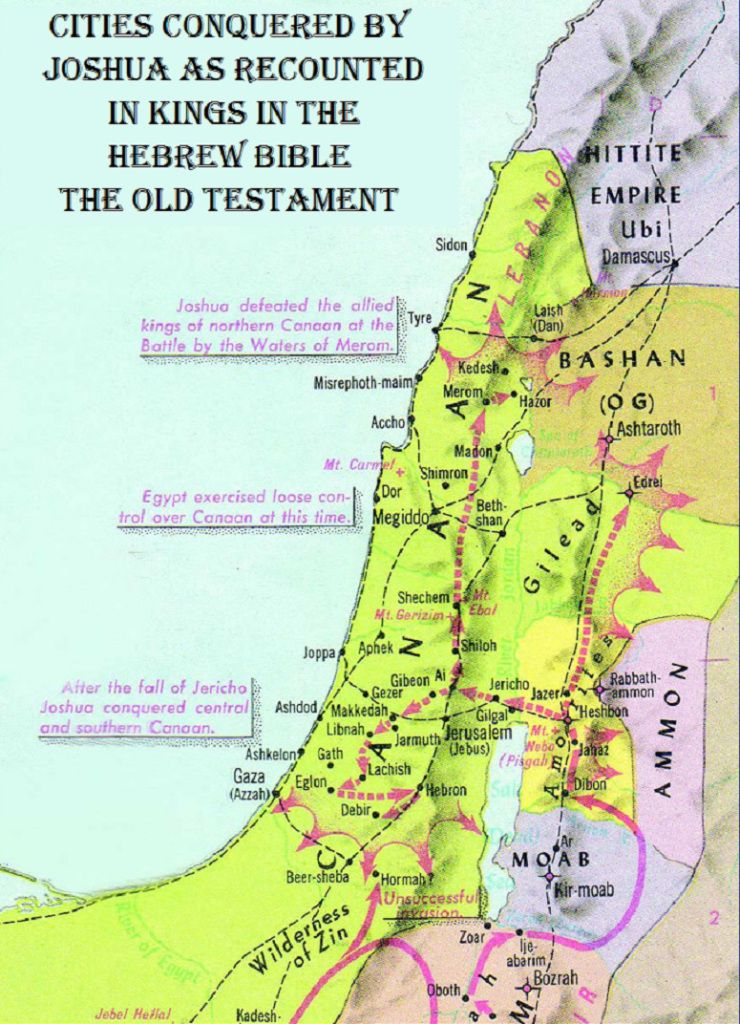 cities-conquered-by-joshua   Bible Maps   Bible mapping, Hebrew ...