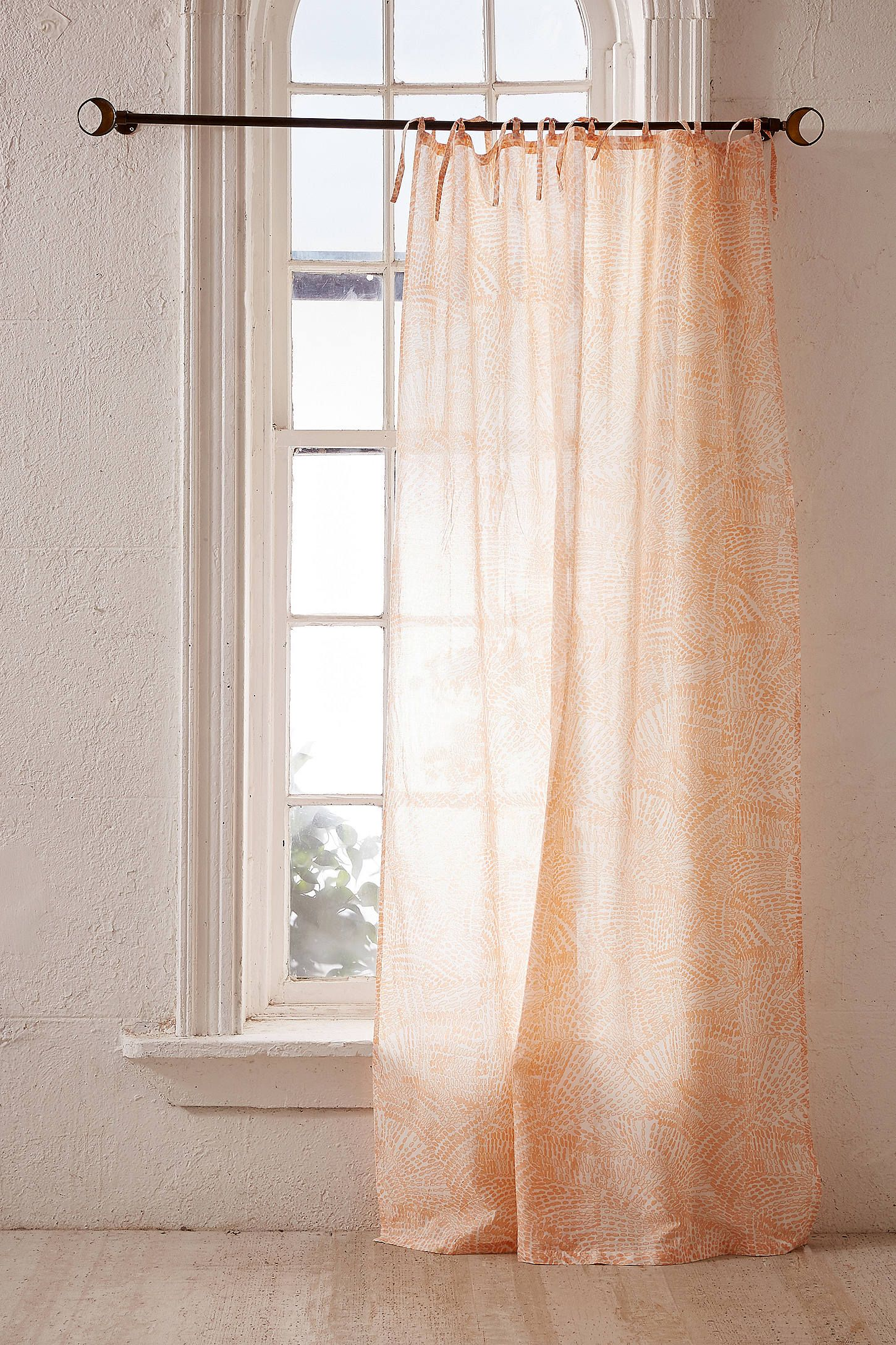 Watercolor Marks Window Curtain Urban Outfitters Curtains - Vorhang Beige Gemustert