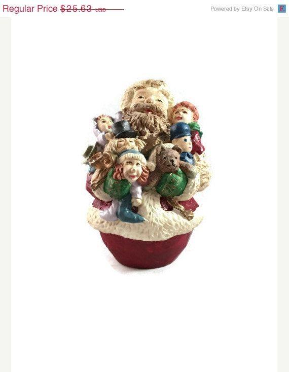 Rolly Polly Santa Figurine, Rare Young Santa Claus Christmas Decor
