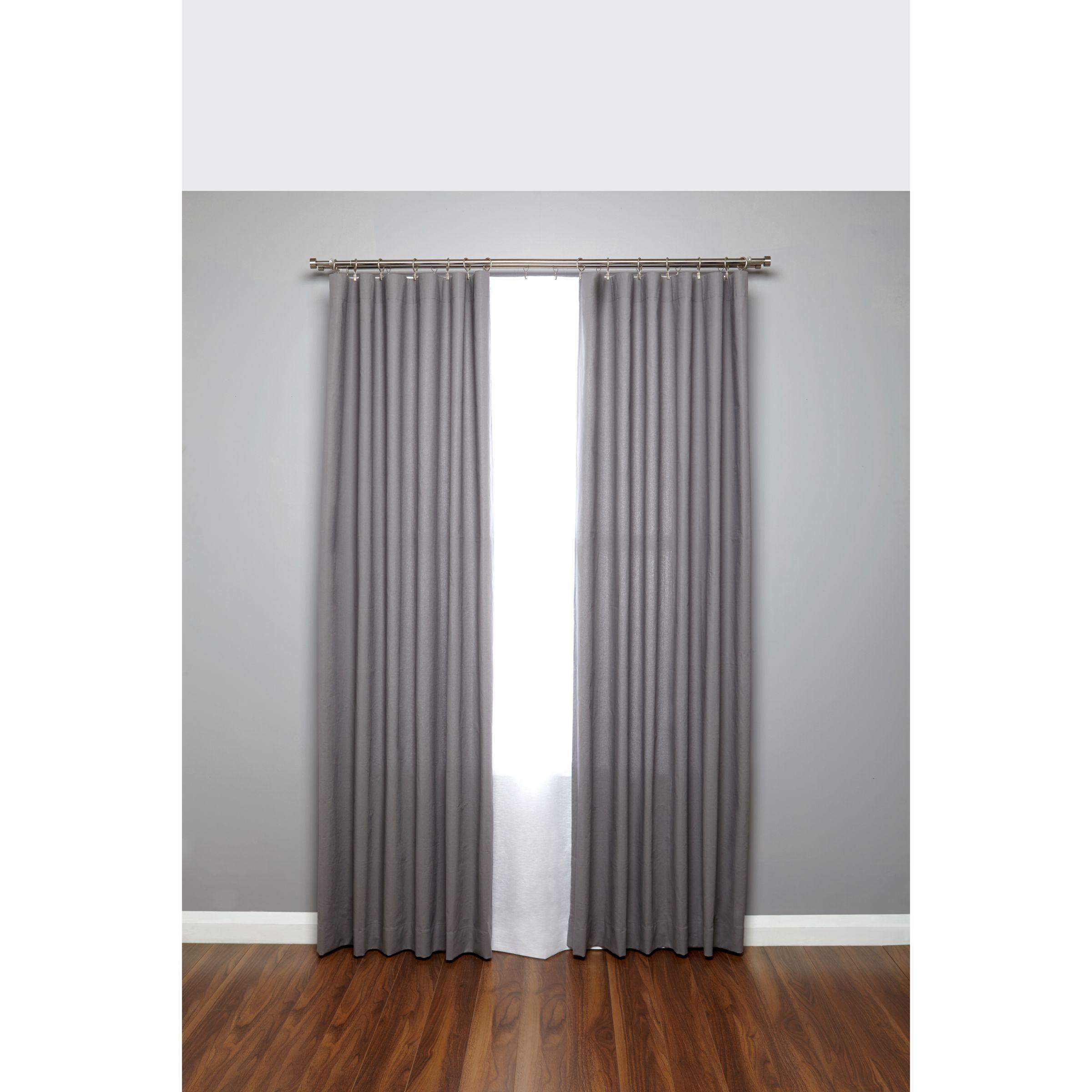 Umbra Adjustable Double Curtain Pole Kit Nickel Dia 16 19mm