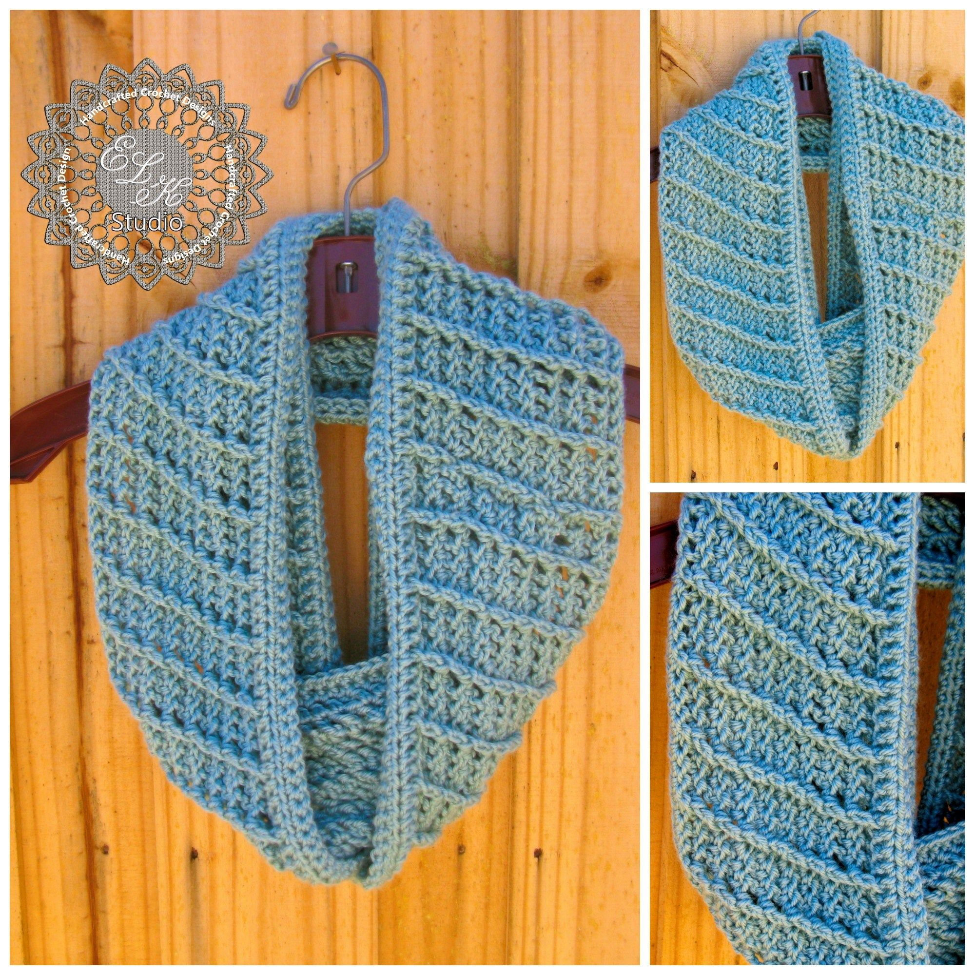 Country Appeal - A Free Crochet Infinity Scarf Pattern | Tejido