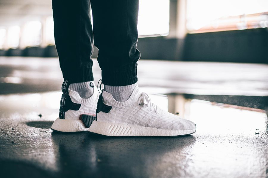 adidas Herren NMD_R2 Primeknit Sneaker, Weiß (Footwear White