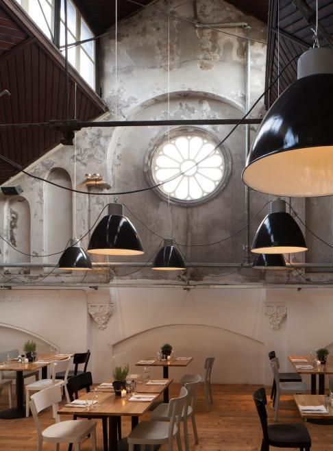 Concrete In Interior Design Mercat Restaurant In Amsterdam