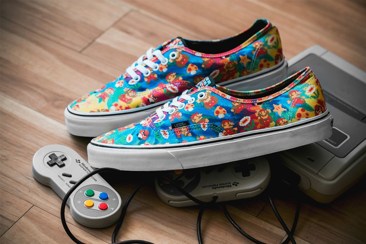 vans x nintendo. a closer look at the nintendo x vans footwear collection s