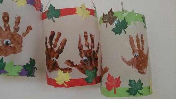 Laternen igel handabdruck basteln pinterest kindergarten sint maarten and craft - Herbstideen kindergarten ...