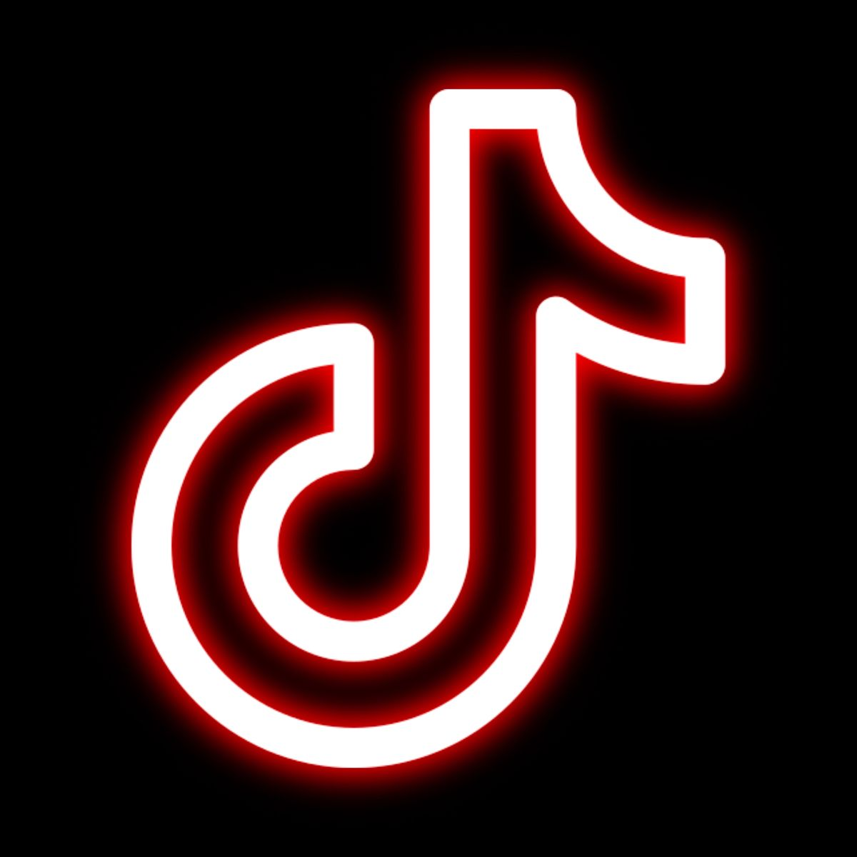 TikTok neon icon