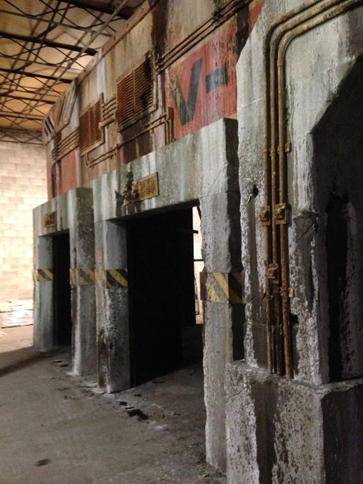 Nevermore Productions Great Haunt facades. in 2019