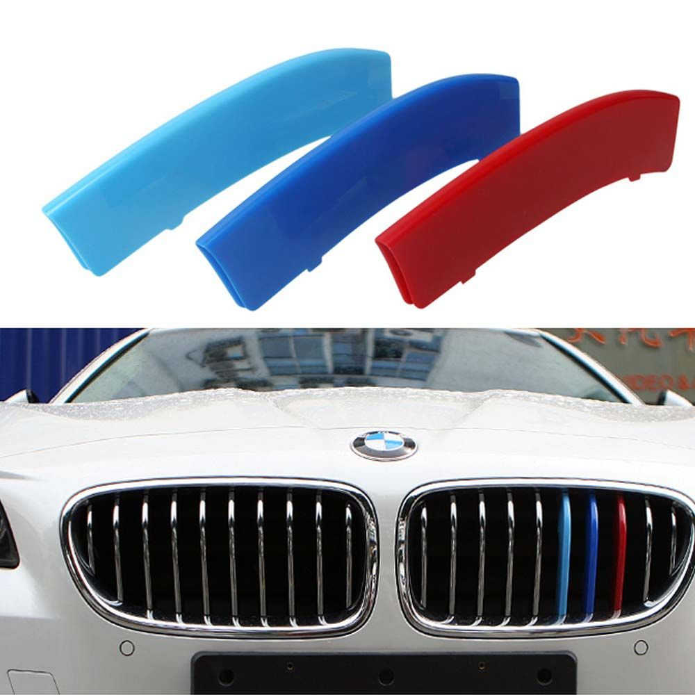 Car Styling Front Grille Three Color Modified Reflective Car Sticker And Decal For Bmw X1 X3 X4 X5 X6 M3 M5 Exterior Accessories Car Stickers Outdoor Decor