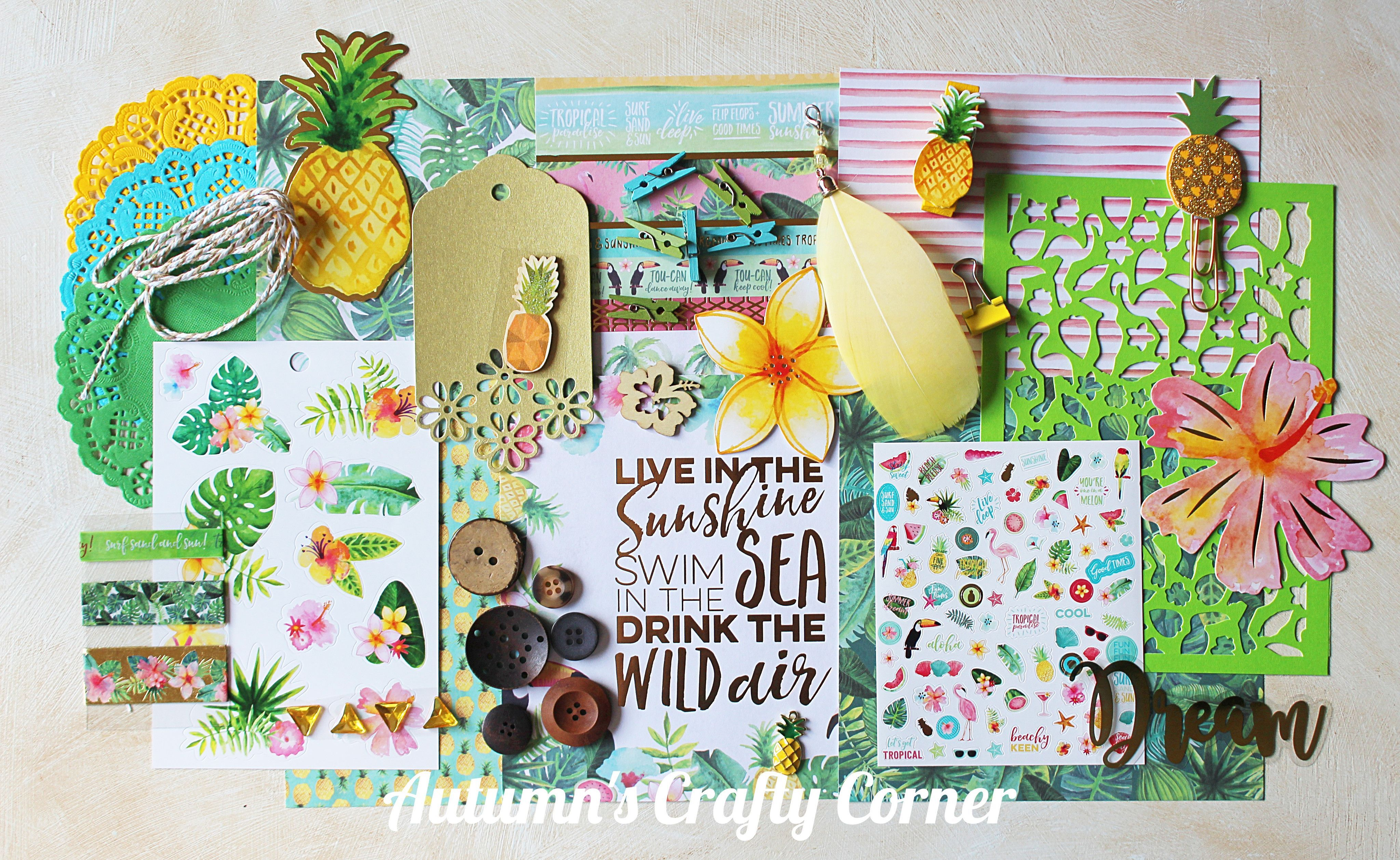 Tropical summer embellishment kit products pinterest products