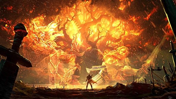 Bfa Burning Teldrassil World Of Warcraft Warcraft Art Environment Concept Art