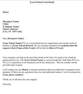 Sample Local Donation Request Letter Sample Letter Asking