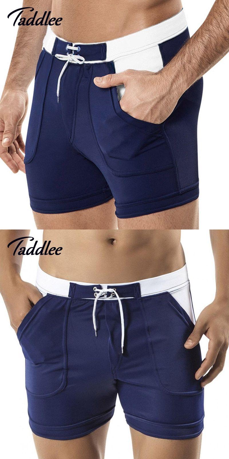 2bafb72c06b60 Taddlee Brand Man Men's Swimwear Swim Beach Board shorts swim trunks  Swimsuits Bathing Suits Men Swimming