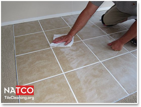 Removing Grout Haze With A Cheese Cloth Tile Care How To Remove